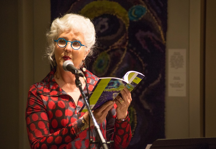 Meryl Cook speaking at the launch of her second book